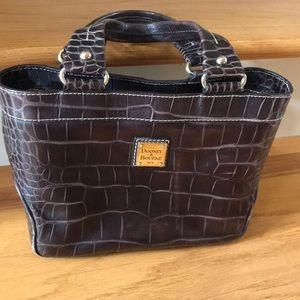 Dooney & Bourke brown croc bag